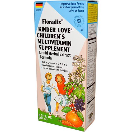 Flora, Floradix, Kinder Love, Children's Multivitamin Supplement, 8.5 fl oz (250 ml) Review