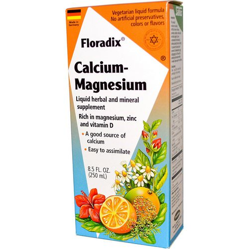 Flora, Salus-Haus, Floradix Calcium - Magnesium with Zinc and Vitamin D, 8.5 fl oz (250 ml) Review