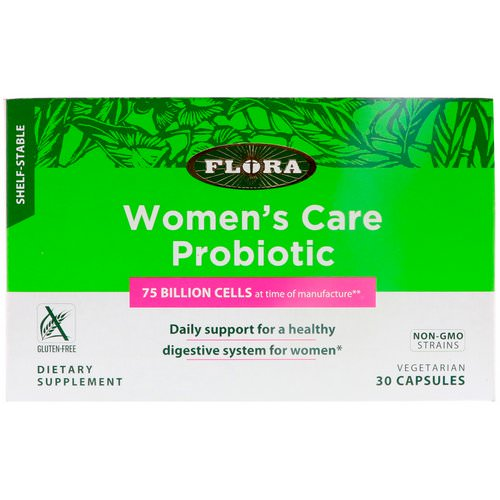 Flora, Women's Care Probiotic, Shelf-Stable, 30 Capsules Review