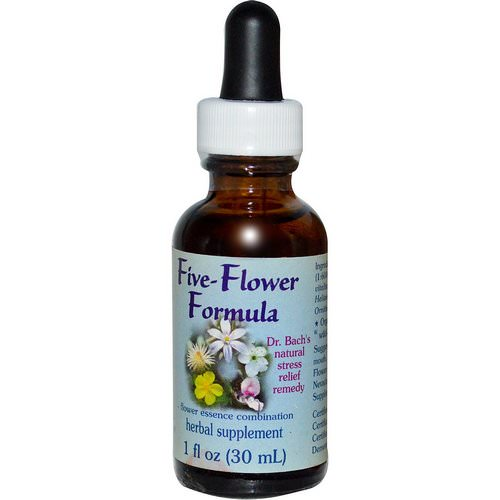 Flower Essence Services, Five-Flower Formula, Flower Essence Combination, 1 fl oz (30 ml) Review