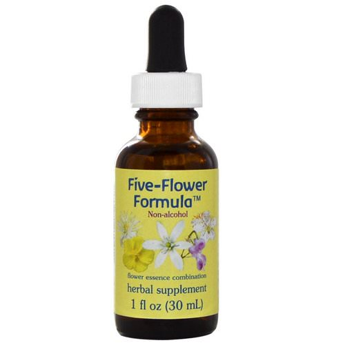 Flower Essence Services, Five-Flower Formula, Flower Essence Combination, Non-Alcohol, 1 fl oz (30 ml) Review