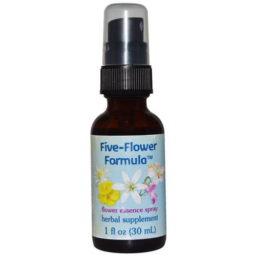 Flower Essence Services, Five-Flower Formula, Flower Essence Spray, 1 fl oz (30 ml) Review