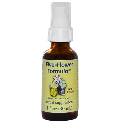 Flower Essence Services, Five-Flower Formula, Flower Essence Spray, Non-Alcoholic, 1 fl oz (30 ml) Review
