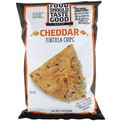 Food Should Taste Good, Cheddar Tortilla Chips, 5.5 oz (155 g) Review