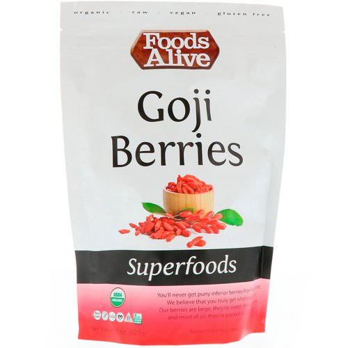 Foods Alive, Superfoods, Goji Berries, 8 oz (227 g) Review