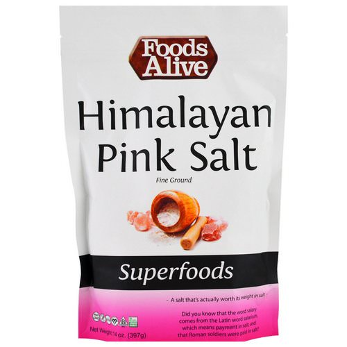 Foods Alive, Superfoods, Himalayan Pink Salt, Fine Ground, 14 oz (397 g) Review