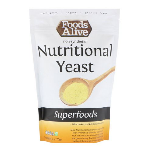 Foods Alive, Superfoods, Nutritional Yeast, 6 oz (170 g) Review