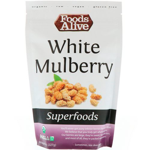 Foods Alive, Superfoods, White Mulberry, 8 oz (227 g) Review