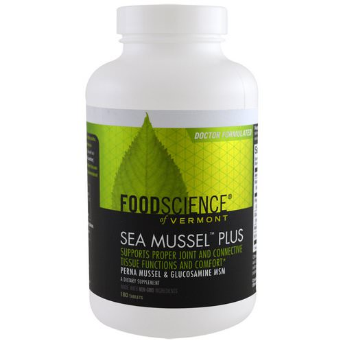 FoodScience, Sea Mussel Plus, 180 Tablets Review