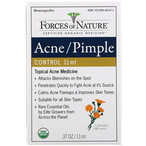 Forces of Nature, Acne/Pimple Control, 0.37 oz (11 ml) Review
