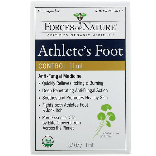 Forces of Nature, Athlete's Foot Control, 0.37 oz (11 ml) Review