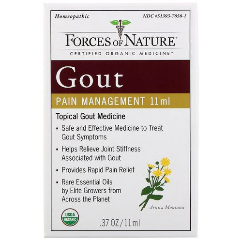 Forces of Nature, Gout Pain Management, 0.37 oz (11 ml) Review