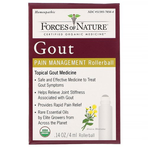Forces of Nature, Gout Pain Management, Rollerball, 0.14 oz (4 ml) Review
