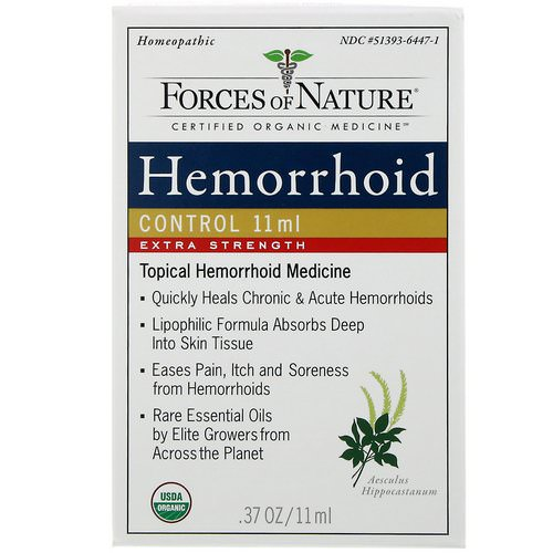 Forces of Nature, Hemorrhoid Control, Extra Strength, 0.37 oz (11 ml) Review
