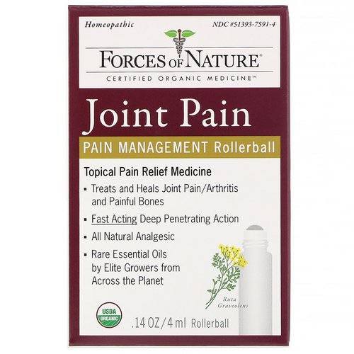 Forces of Nature, Joint Pain, Pain Management, Rollerball, 0.14 oz (4 ml) Review