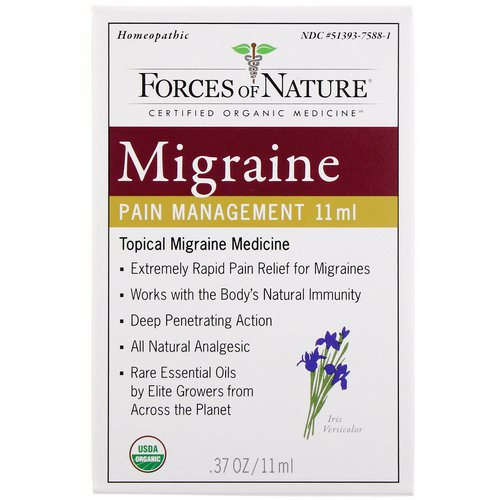 Forces of Nature, Migraine Pain Management, 0.37 oz (11 ml) Review