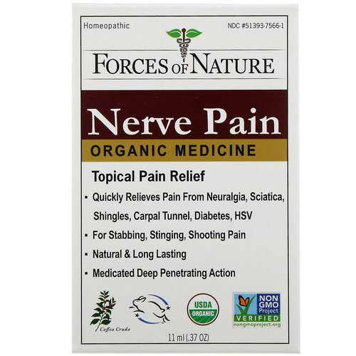 Forces of Nature, Nerve Pain, Organic Medicine, 0.37 oz (11 ml) Review