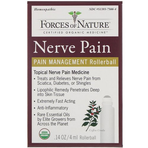 Forces of Nature, Nerve Pain, Pain Management, Rollerball, 0.14 oz (4 ml) Review