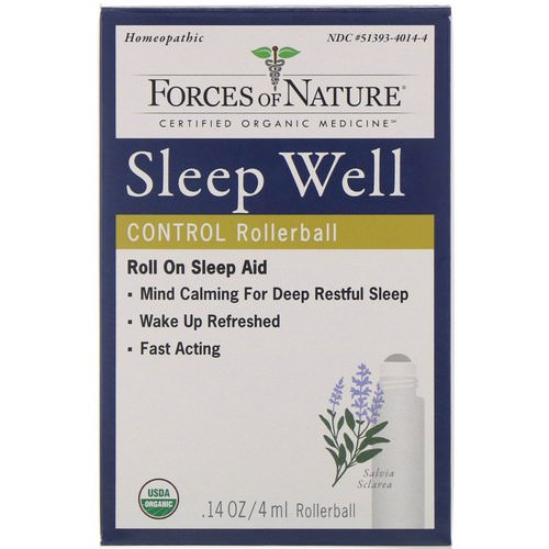 Forces of Nature, Sleep Well Control, Rollerball, 0.14 oz (4 ml) Review