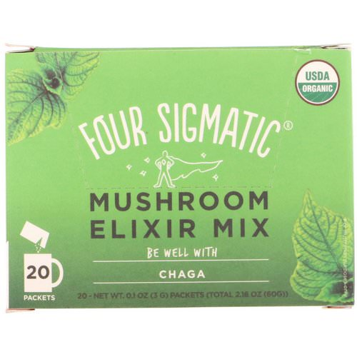 Four Sigmatic, Chaga, Mushroom Elixir Mix, 20 Packets, 0.1 oz (3 g) Each Review