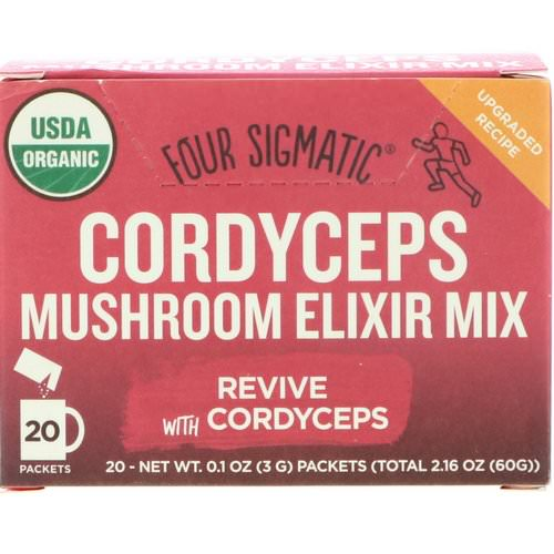 Four Sigmatic, Cordyceps, Mushroom Elixir Mix, 20 Packets, 0.1 oz (3 g) Each Review