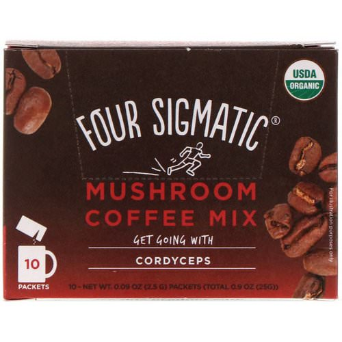 Four Sigmatic, Mushroom Coffee Mix, Rich + Smooth, 10 Packets, 0.09 oz (2.5 g) Each Review