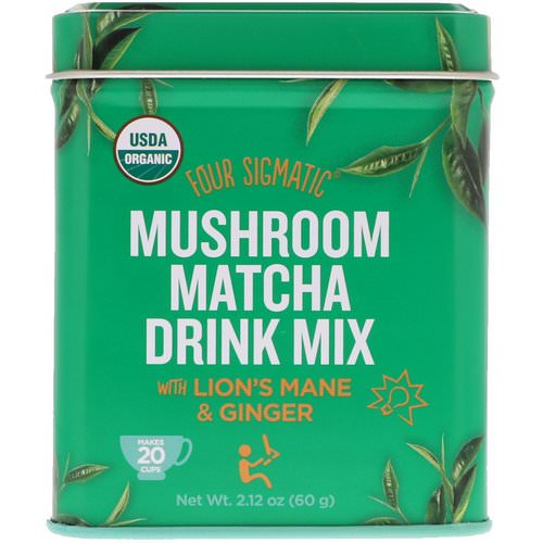 Four Sigmatic, Mushroom Matcha Drink Mix, 2.12 oz (60 g) Review