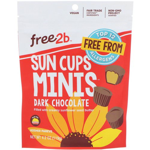 Free2B, Sun Cups Minis, Dark Chocolate, 4.2 oz (119 g) Review