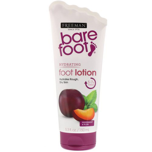 Freeman Beauty, Bare Foot, Hydrating, Foot Lotion, Peppermint & Plum, 5.3 fl oz (150 ml) Review