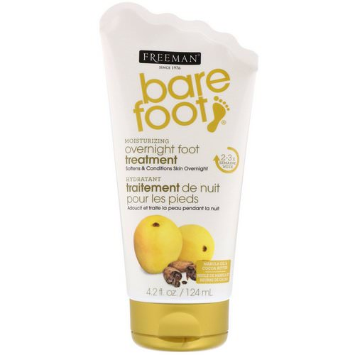 Freeman Beauty, Bare Foot, Moisturizing, Overnight Foot Treatment, Marula Oil & Cocoa Butter, 4.2 fl oz (124 ml) Review