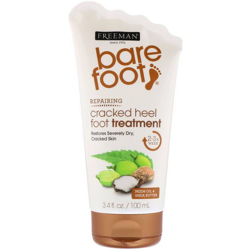 Freeman Beauty, Bare Foot, Repairing, Cracked Heel Foot Treatment, Neem Oil & Shea Butter, 3.4 fl oz (100 ml) Review