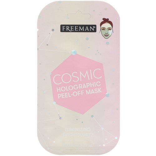 Freeman Beauty, Cosmic Holographic Peel-Off Mask, Luminizing Rose Quartz, 0.33 fl oz (10 ml) Review