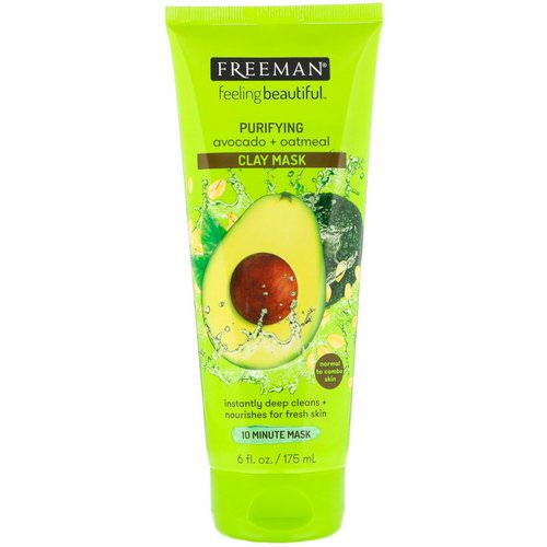 Freeman Beauty, Feeling Beautiful, Purifying Clay Mask, Avocado + Oatmeal, 6 fl oz (175 ml) Review
