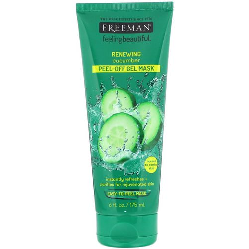 Freeman Beauty, Feeling Beautiful, Renewing Peel-Off Gel Mask, Cucumber, 6 fl oz (175 ml) Review