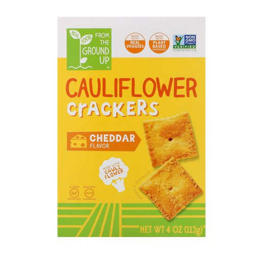 From The Ground Up, Cauliflower Crackers, Cheddar, 4 oz (113 g) Review
