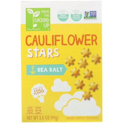 From The Ground Up, Cauliflower Stars, Baked Snack Crackers, Sea Salt, 3.5 oz (99 g) Review