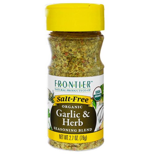 Frontier Natural Products, Organic Garlic & Herb Seasoning Blend, 2.7 oz (76 g) Review