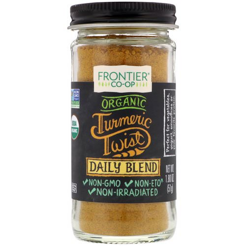 Frontier Natural Products, Organic Turmeric Twist, Daily Blend, 1.80 oz (51 g) Review