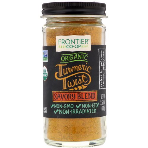 Frontier Natural Products, Organic Turmeric Twist, Savory Blend, 2.50 oz (70 g) Review