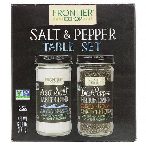 Frontier Natural Products, Salt & Pepper Table Set, 6.03 oz (171 g) Review
