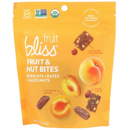 Fruit Bliss, Fruit & Nut Bites, Apricot + Dates + Hazelnuts, 4 oz (113 g) Review