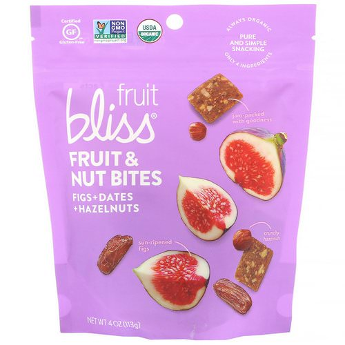 Fruit Bliss, Fruit & Nut Bites, Figs + Dates + Hazelnuts, 4 oz (113 g) Review