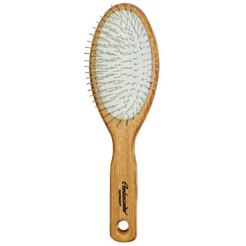 Fuchs Brushes, Ambassador Hairbrushes, Wooden, Large, Oval/Steel Pins, 1 Hair Brush Review