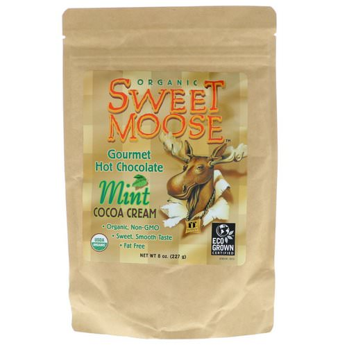 FunFresh Foods, Sweet Moose, Gourmet Hot Chocolate, Mint Cocoa Cream, 8 oz (227 g) Review