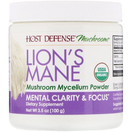 Fungi Perfecti, Lion's Mane, Mushroom Mycelium Powder, Mental Clarity & Focus, 3.5 oz (100 g) Review