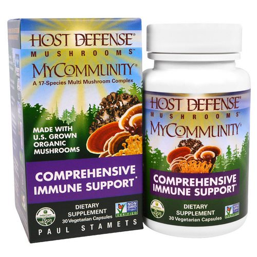 Fungi Perfecti, Mushrooms, MyCommunity, Comprehensive Immune Support, 30 Veggie Caps Review