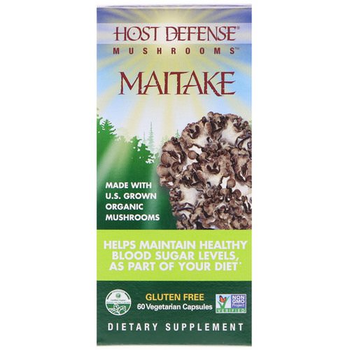 Fungi Perfecti, Mushrooms, Organic Maitake, 60 Vegetarian Capsules Review