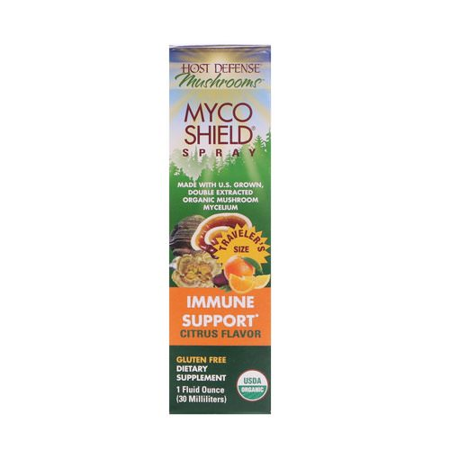 Fungi Perfecti, Mushrooms, Organic Myco Shield Spray, Immune Support Citrus Flavor, 1 fl oz (30 ml) Review