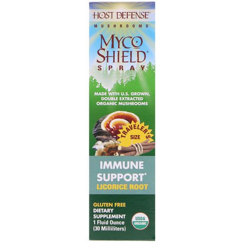 Fungi Perfecti, Mushrooms, Organic Myco Shield Spray, Immune Support Licorice Root, 1 fl oz (30 ml) Review