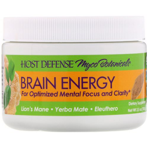 Fungi Perfecti, Myco Botanicals, Brain Energy, 3.5 oz (100 g) Review